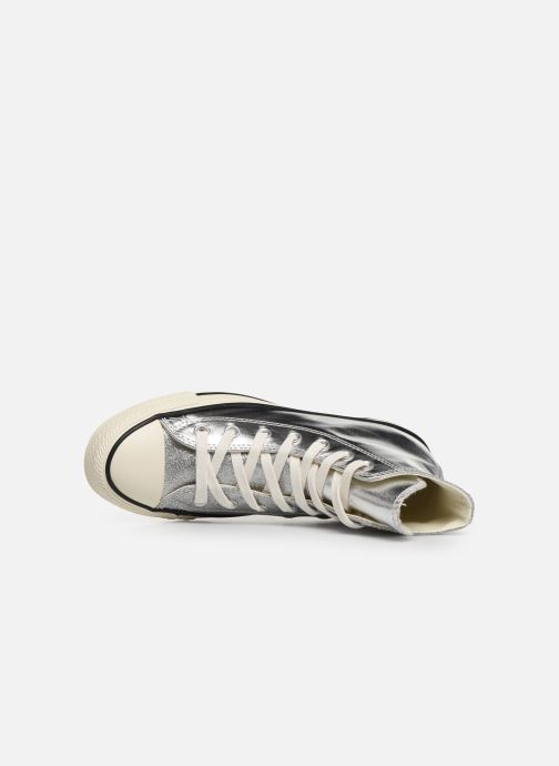 Trainers Converse Chuck Taylor All Star Shiny Metal Hi Silver view from the left