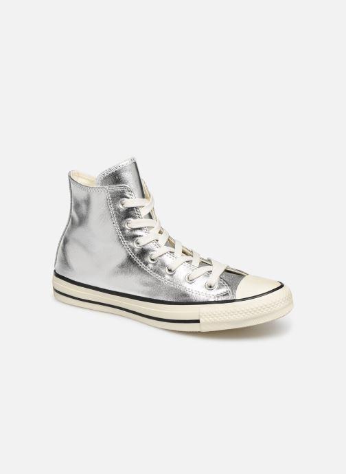 Converse Chuck Taylor High Top 'Baskets' Argent & Blanc