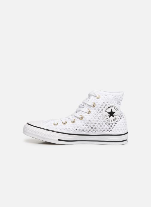 Trainers Converse Chuck Taylor All Star Handmade Crochet Hi White front view