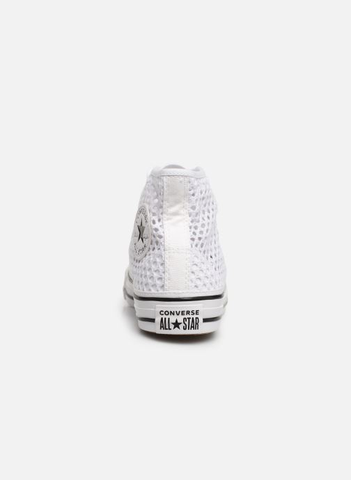 Trainers Converse Chuck Taylor All Star Handmade Crochet Hi White view from the right