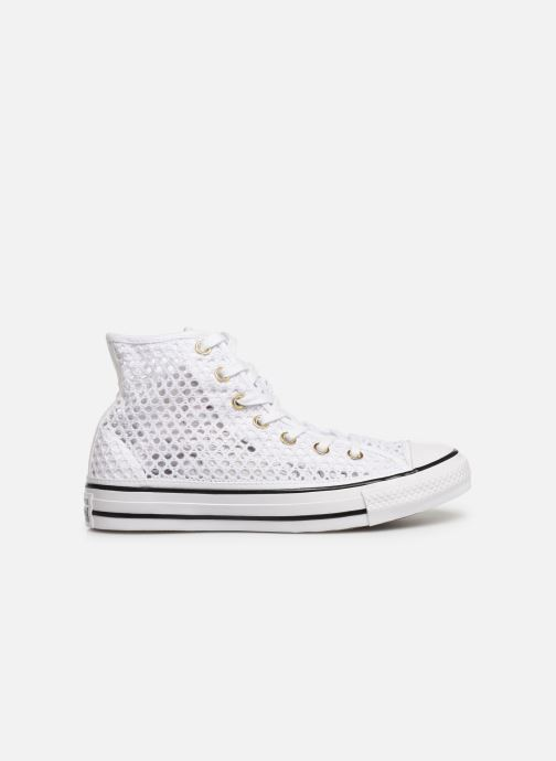 Trainers Converse Chuck Taylor All Star Handmade Crochet Hi White back view