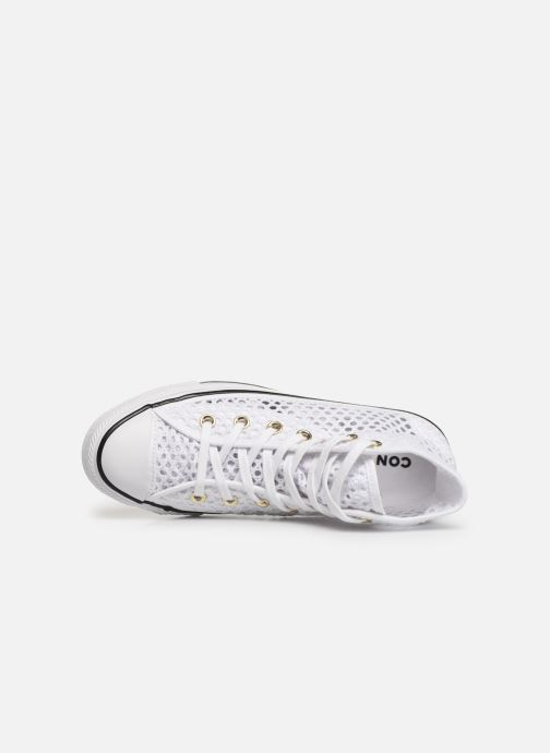 Trainers Converse Chuck Taylor All Star Handmade Crochet Hi White view from the left