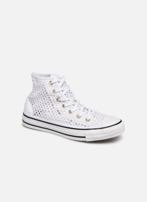Trainers Converse Chuck Taylor All Star Handmade Crochet Hi White detailed view/ Pair view