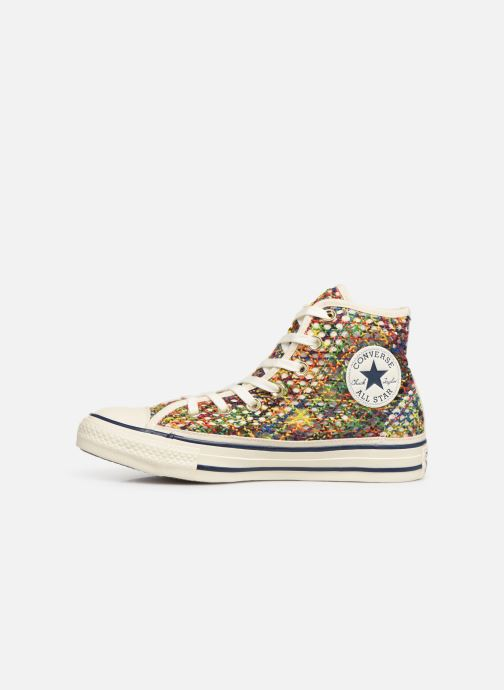 Trainers Converse Chuck Taylor All Star Handmade Crochet Hi Multicolor front view