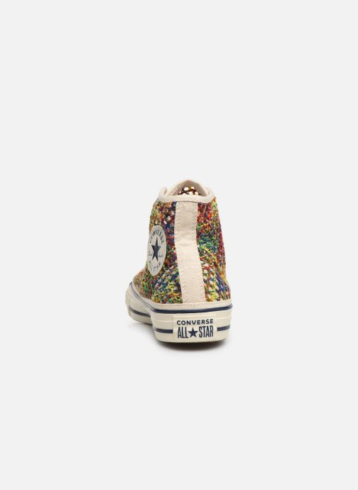 Trainers Converse Chuck Taylor All Star Handmade Crochet Hi Multicolor view from the right