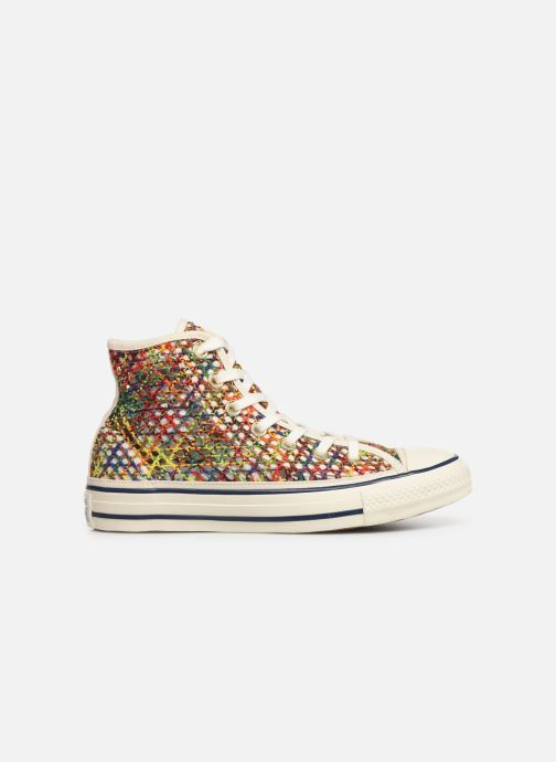 Trainers Converse Chuck Taylor All Star Handmade Crochet Hi Multicolor back view