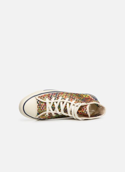 Trainers Converse Chuck Taylor All Star Handmade Crochet Hi Multicolor view from the left