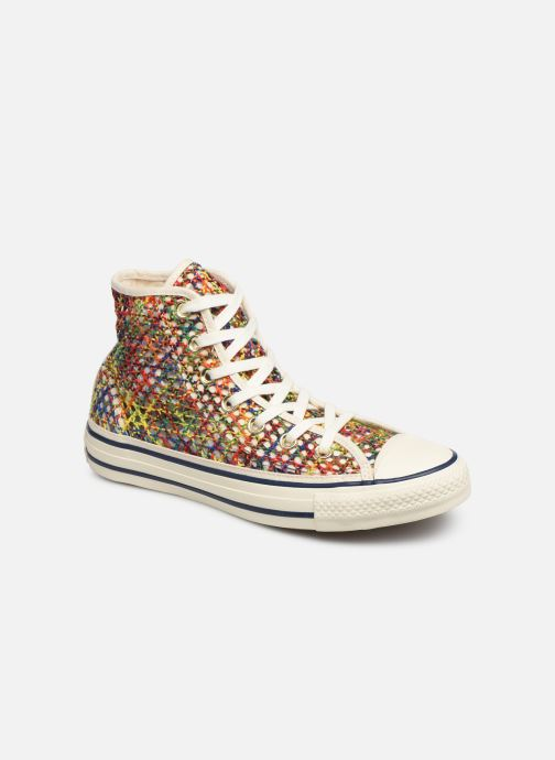 Baskets Converse Chuck Taylor All Star Handmade Crochet Hi Multicolore vue détail/paire