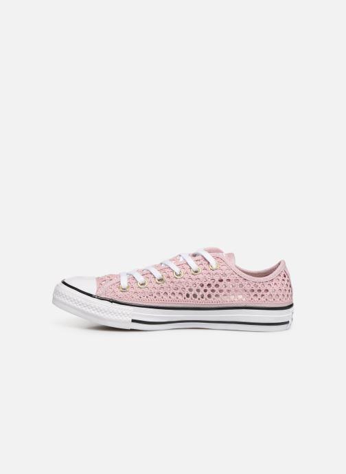Sneaker Converse Chuck Taylor All Star Handmade Crochet Ox rosa ansicht von vorne