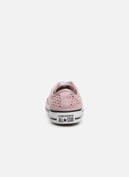 Trainers Converse Chuck Taylor All Star Handmade Crochet Ox Pink view from the right