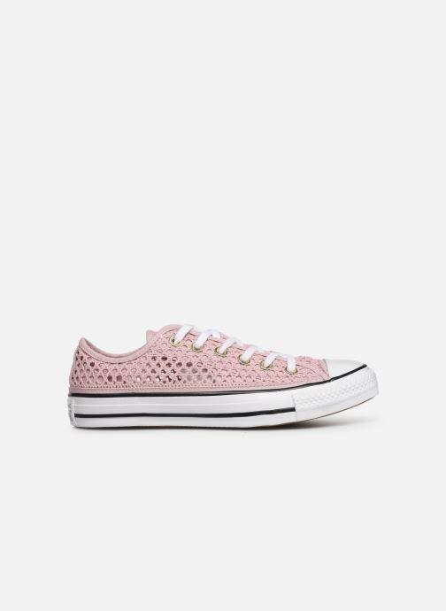 Sneaker Converse Chuck Taylor All Star Handmade Crochet Ox rosa ansicht von hinten