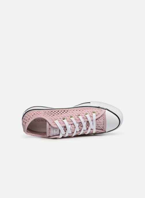 Trainers Converse Chuck Taylor All Star Handmade Crochet Ox Pink view from the left