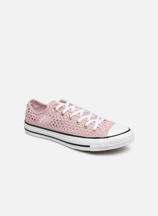 Trainers Converse Chuck Taylor All Star Handmade Crochet Ox Pink detailed view/ Pair view