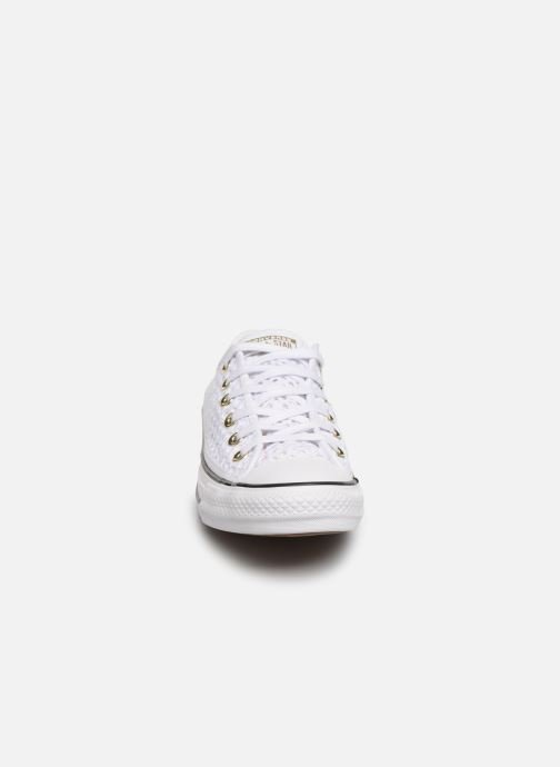Trainers Converse Chuck Taylor All Star Handmade Crochet Ox White model view