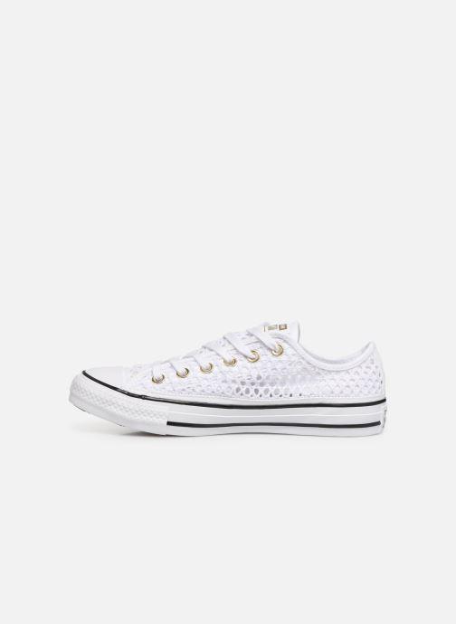 Sneakers Converse Chuck Taylor All Star Handmade Crochet Ox Hvid se forfra