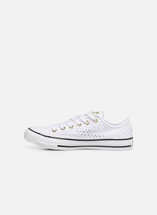 Baskets Converse Chuck Taylor All Star Handmade Crochet Ox Blanc vue face