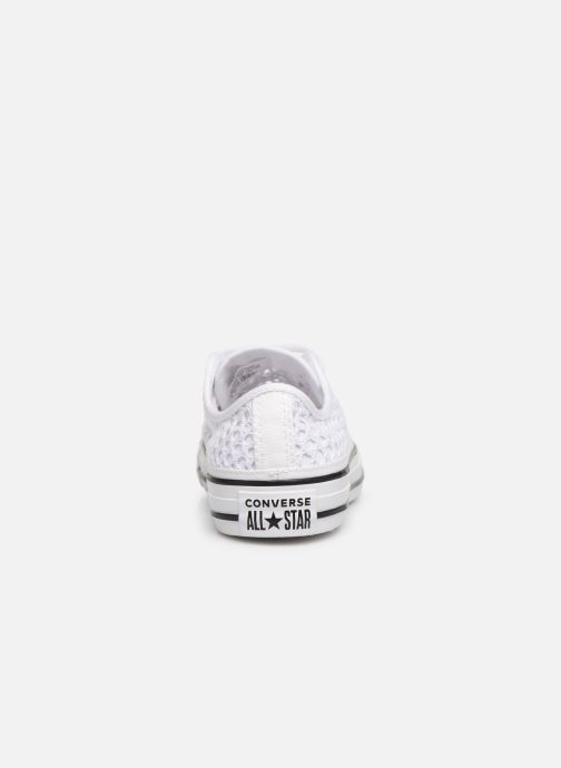 Trainers Converse Chuck Taylor All Star Handmade Crochet Ox White view from the right