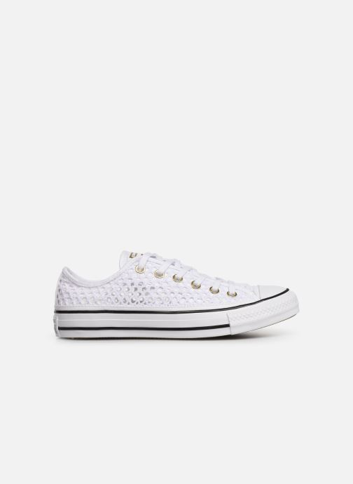 Trainers Converse Chuck Taylor All Star Handmade Crochet Ox White back view