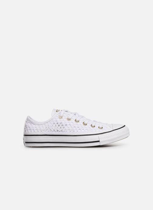 Sneakers Converse Chuck Taylor All Star Handmade Crochet Ox Wit achterkant