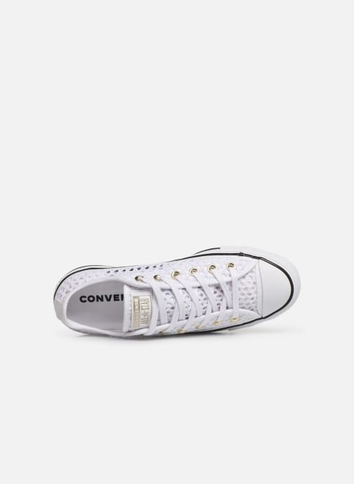 Trainers Converse Chuck Taylor All Star Handmade Crochet Ox White view from the left