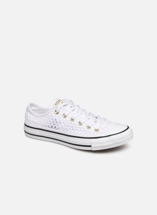 Trainers Converse Chuck Taylor All Star Handmade Crochet Ox White detailed view/ Pair view
