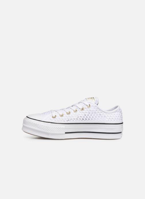 Sneaker Converse Chuck Taylor All Star Lift Handmade Crochet Ox weiß ansicht von vorne