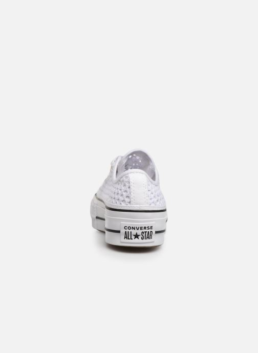 Trainers Converse Chuck Taylor All Star Lift Handmade Crochet Ox White view from the right