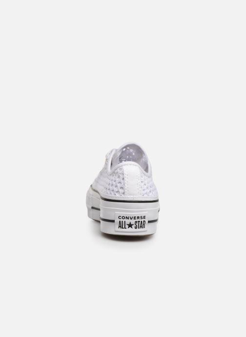 Sneakers Converse Chuck Taylor All Star Lift Handmade Crochet Ox Bianco immagine destra