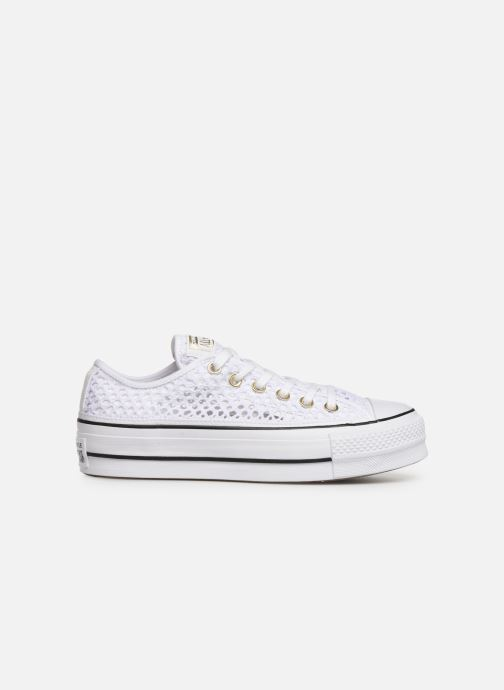 Trainers Converse Chuck Taylor All Star Lift Handmade Crochet Ox White back view