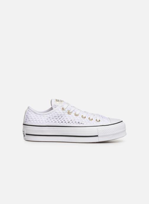 Sneakers Converse Chuck Taylor All Star Lift Handmade Crochet Ox Bianco immagine posteriore