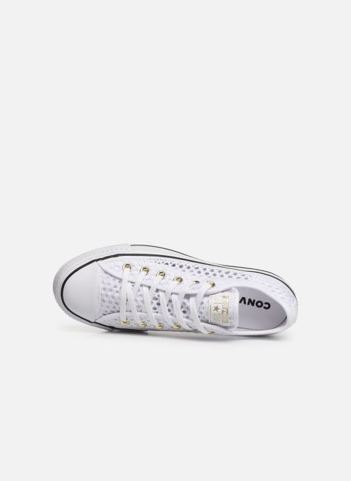 Trainers Converse Chuck Taylor All Star Lift Handmade Crochet Ox White view from the left