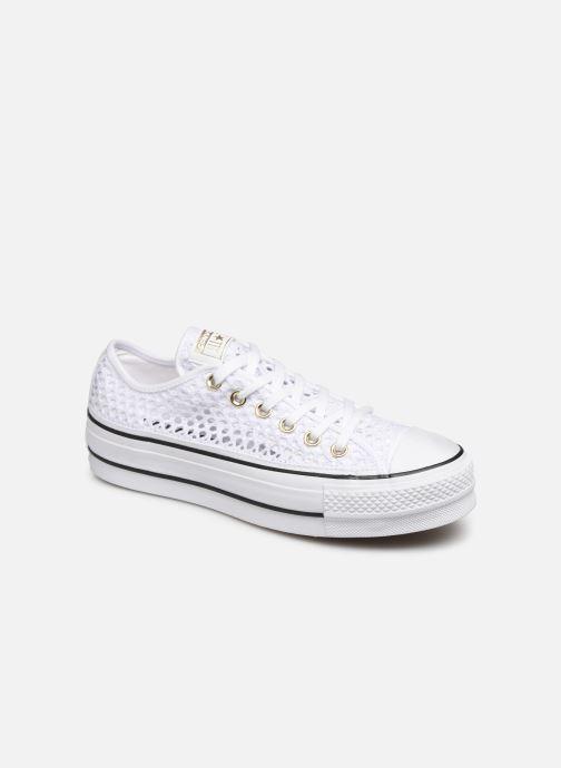 Sneaker Converse Chuck Taylor All Star Lift Handmade Crochet Ox weiß detaillierte ansicht/modell