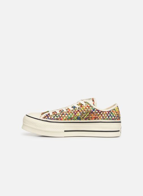 Trainers Converse Chuck Taylor All Star Lift Handmade Crochet Ox Multicolor front view