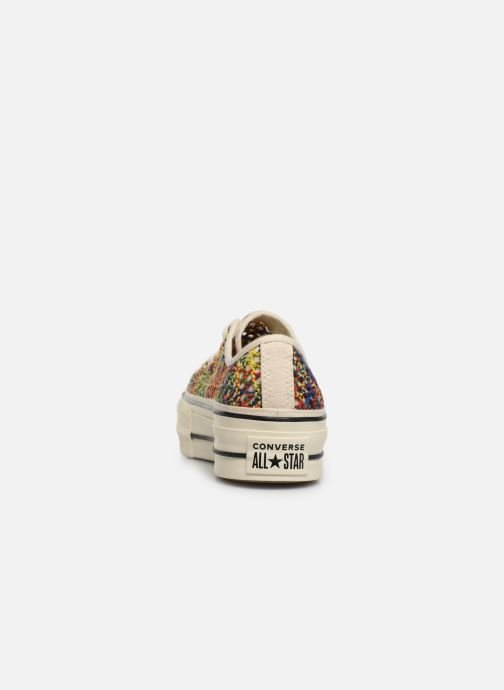 Trainers Converse Chuck Taylor All Star Lift Handmade Crochet Ox Multicolor view from the right