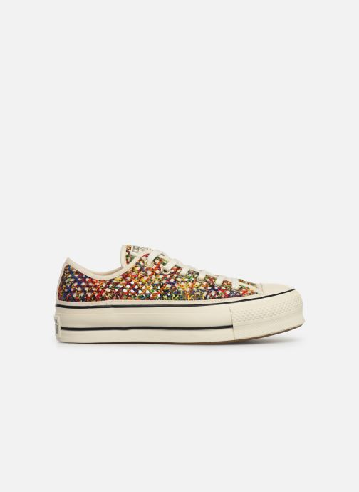 Trainers Converse Chuck Taylor All Star Lift Handmade Crochet Ox Multicolor back view