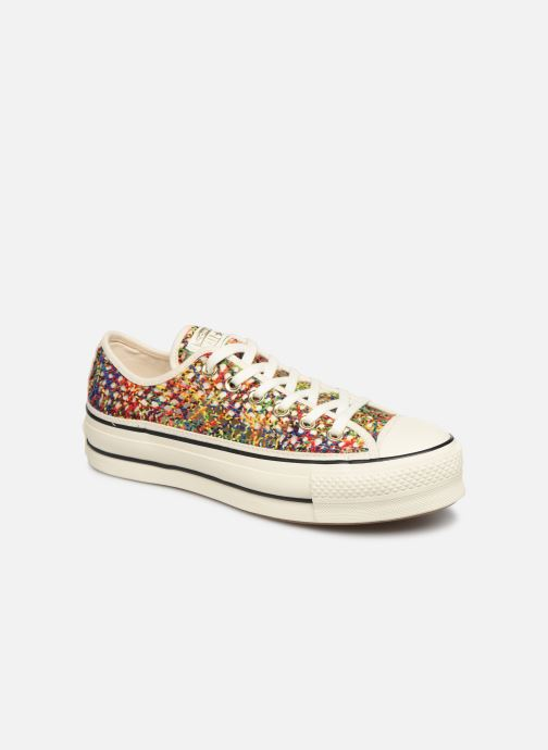 Trainers Converse Chuck Taylor All Star Lift Handmade Crochet Ox Multicolor detailed view/ Pair view
