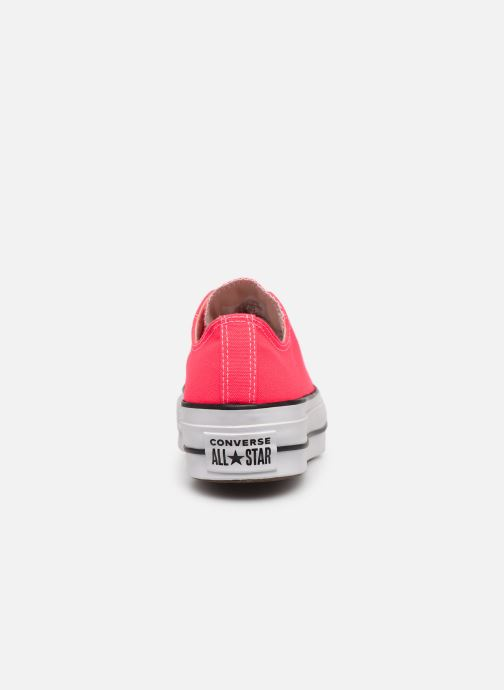Baskets Converse Chuck Taylor All Star Clean Lift Seasonal Color Extension Ox Rose vue droite