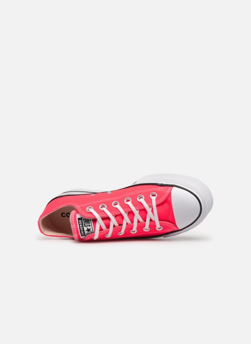 Trainers Converse Chuck Taylor All Star Clean Lift Seasonal Color Extension Ox Pink view from the left