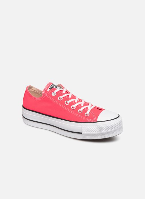 Baskets Converse Chuck Taylor All Star Clean Lift Seasonal Color Extension Ox Rose vue détail/paire