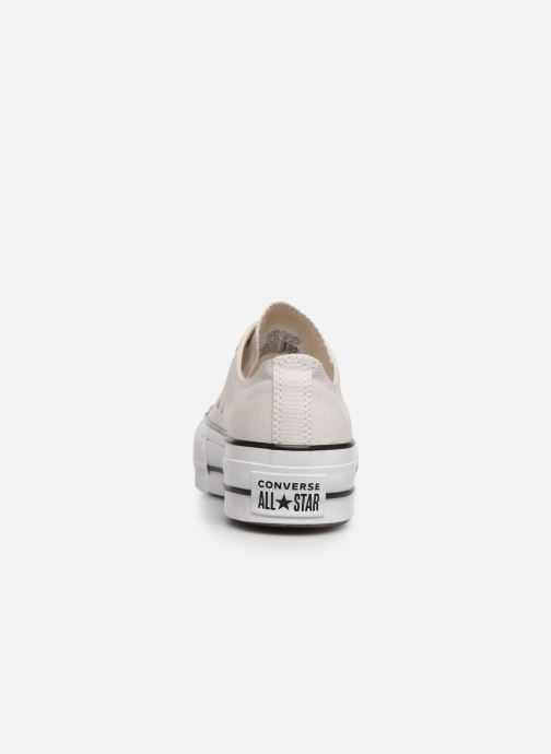 Sneakers Converse Chuck Taylor All Star Clean Lift Seasonal Color Extension Ox Beige immagine destra