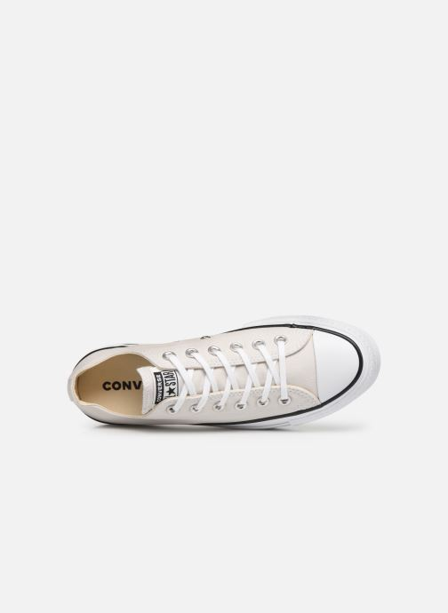 Sneakers Converse Chuck Taylor All Star Clean Lift Seasonal Color Extension Ox Beige immagine sinistra