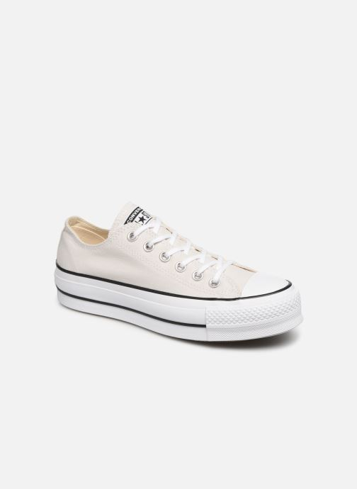 Baskets Converse Chuck Taylor All Star Clean Lift Seasonal Color Extension Ox Beige vue détail/paire