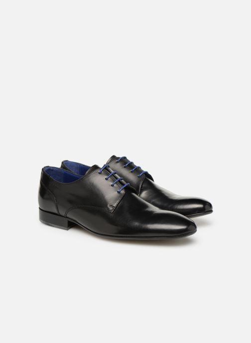 Zapatos con cordones Azzaro Deligo Negro vista 3/4