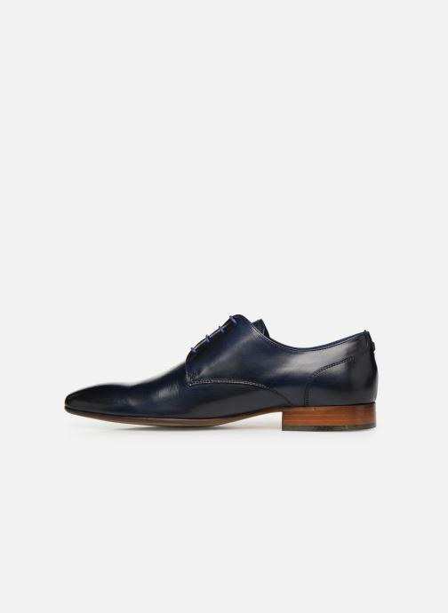 Lace-up shoes Azzaro Deligo Blue front view