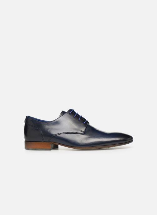 Zapatos con cordones Azzaro Deligo Azul vistra trasera