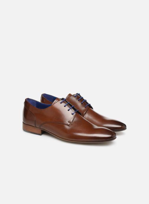 Zapatos con cordones Azzaro Deligo Marrón vista 3/4
