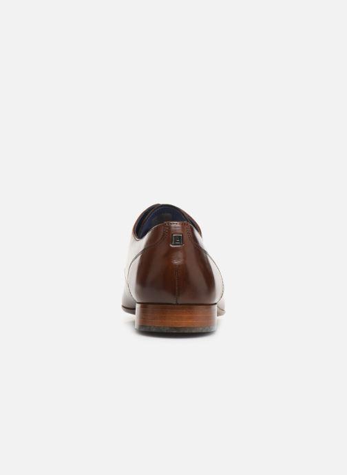 Zapatos con cordones Azzaro Deligo Marrón vista lateral derecha