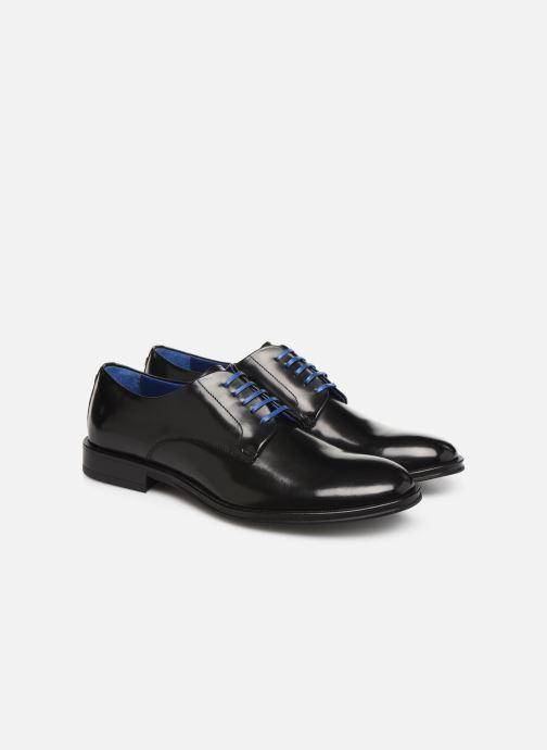 Zapatos con cordones Azzaro Farano Negro vista 3/4