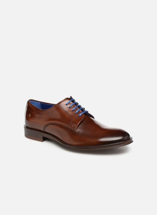 Snøresko Azzaro Farano Brun detaljeret billede af skoene