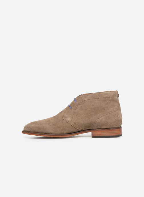 Ankle boots Azzaro Herzog Beige front view